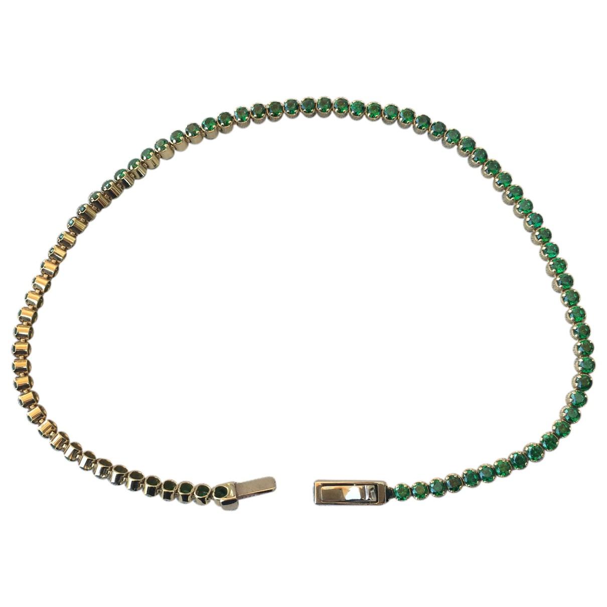 - Bracelet Tennis pour femme en or jaune - vert