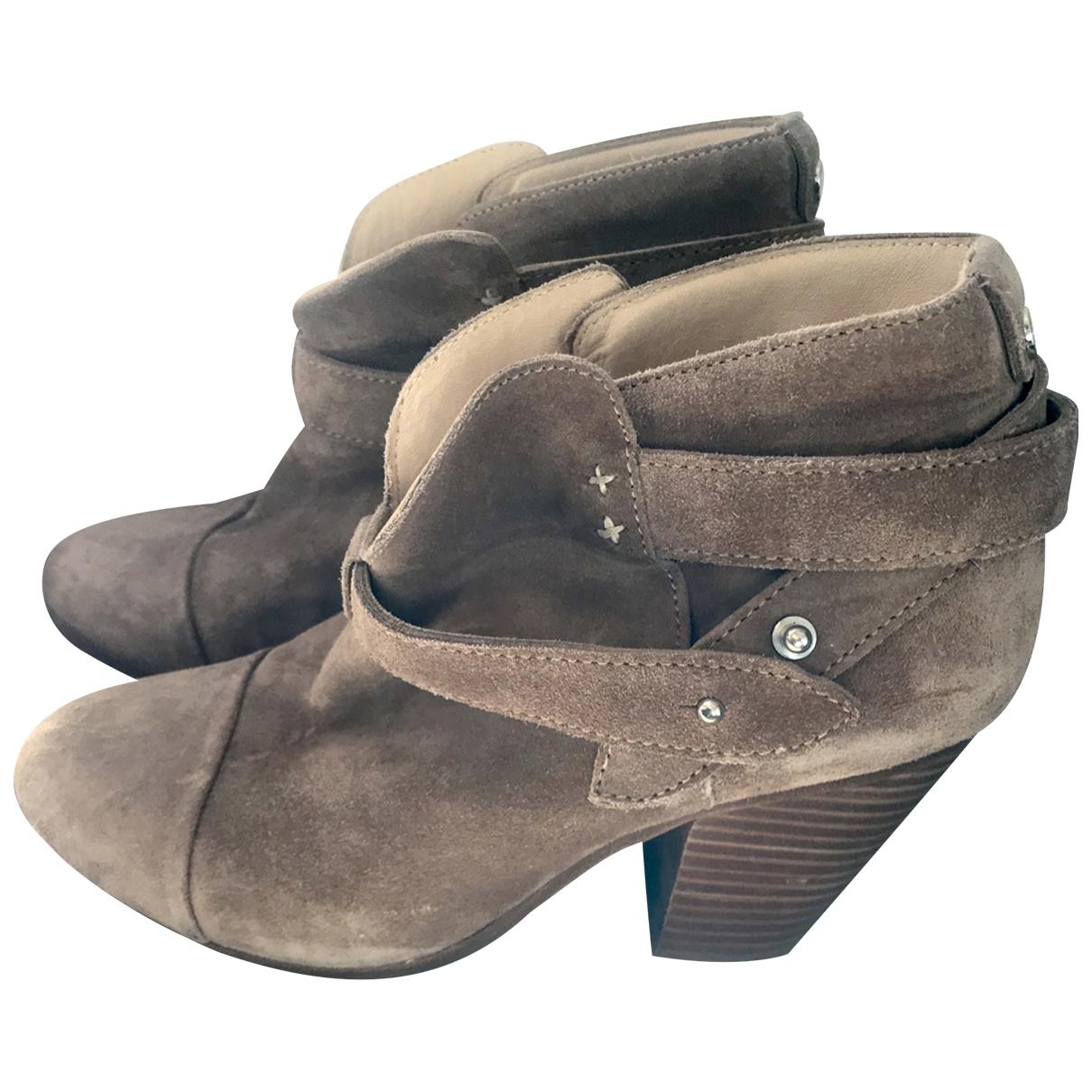 Rag & Bone - Boots   pour femme en suede - camel