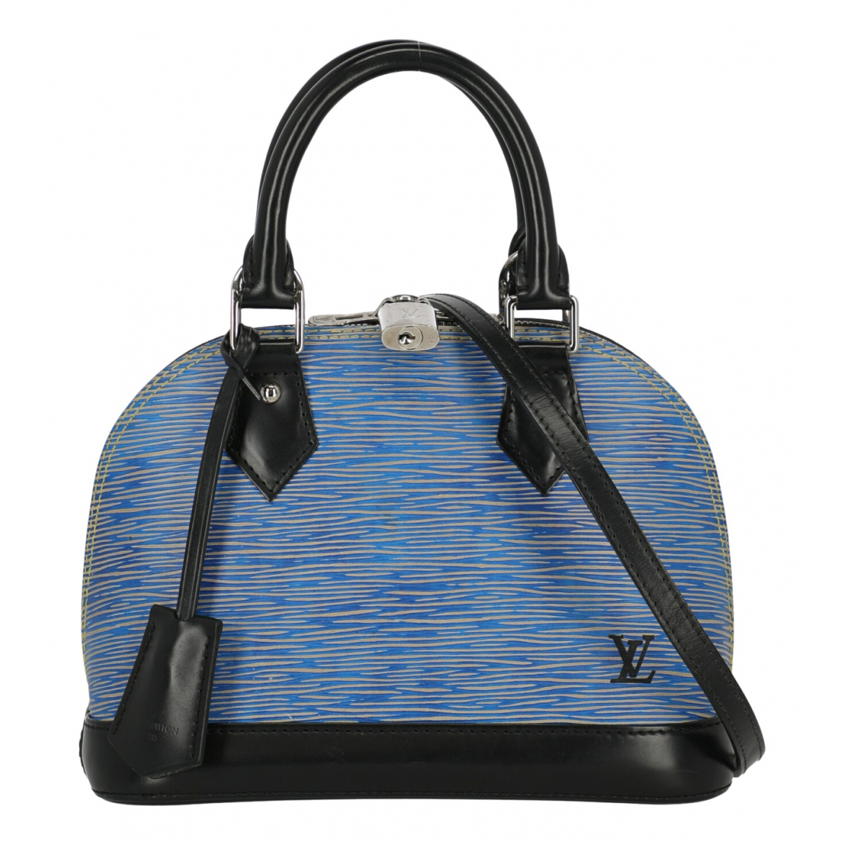 Louis Vuitton - Sac a main Alma BB pour femme en cuir - bleu