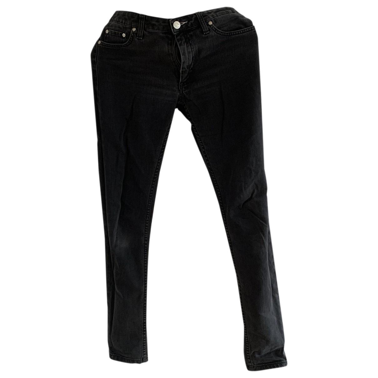 Acne Studios \N Grey Cotton Jeans for Women 28 US