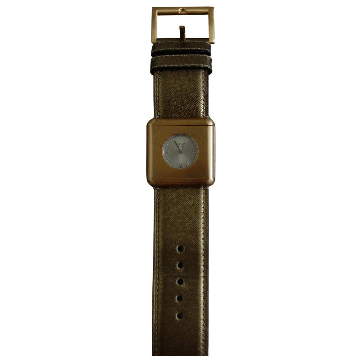 Prada \N Gold Steel watch for Women \N