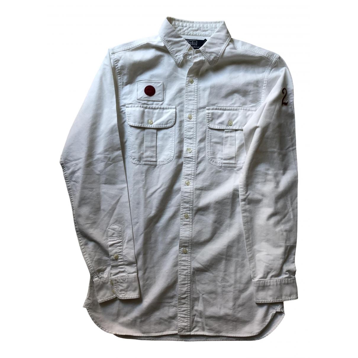 Polo Ralph Lauren - Chemises   pour homme en coton - blanc