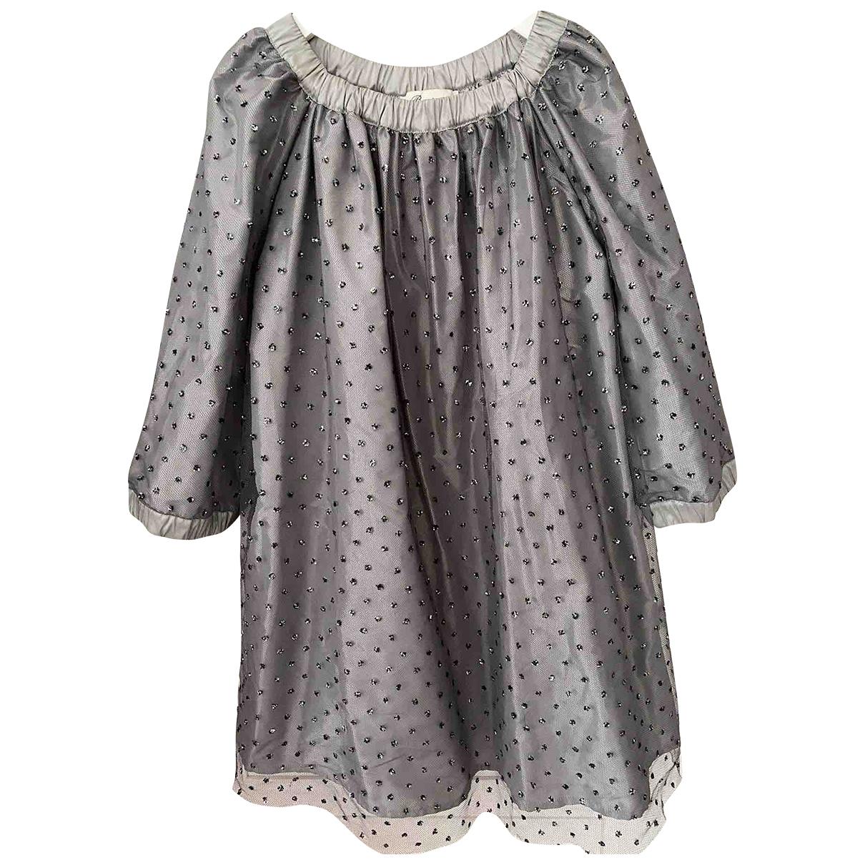 Bonpoint - Robe    pour enfant - argente