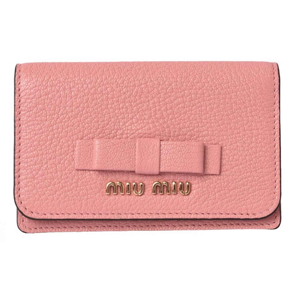 Miu Miu \N Pink Leather Purses, wallet & cases for Women \N