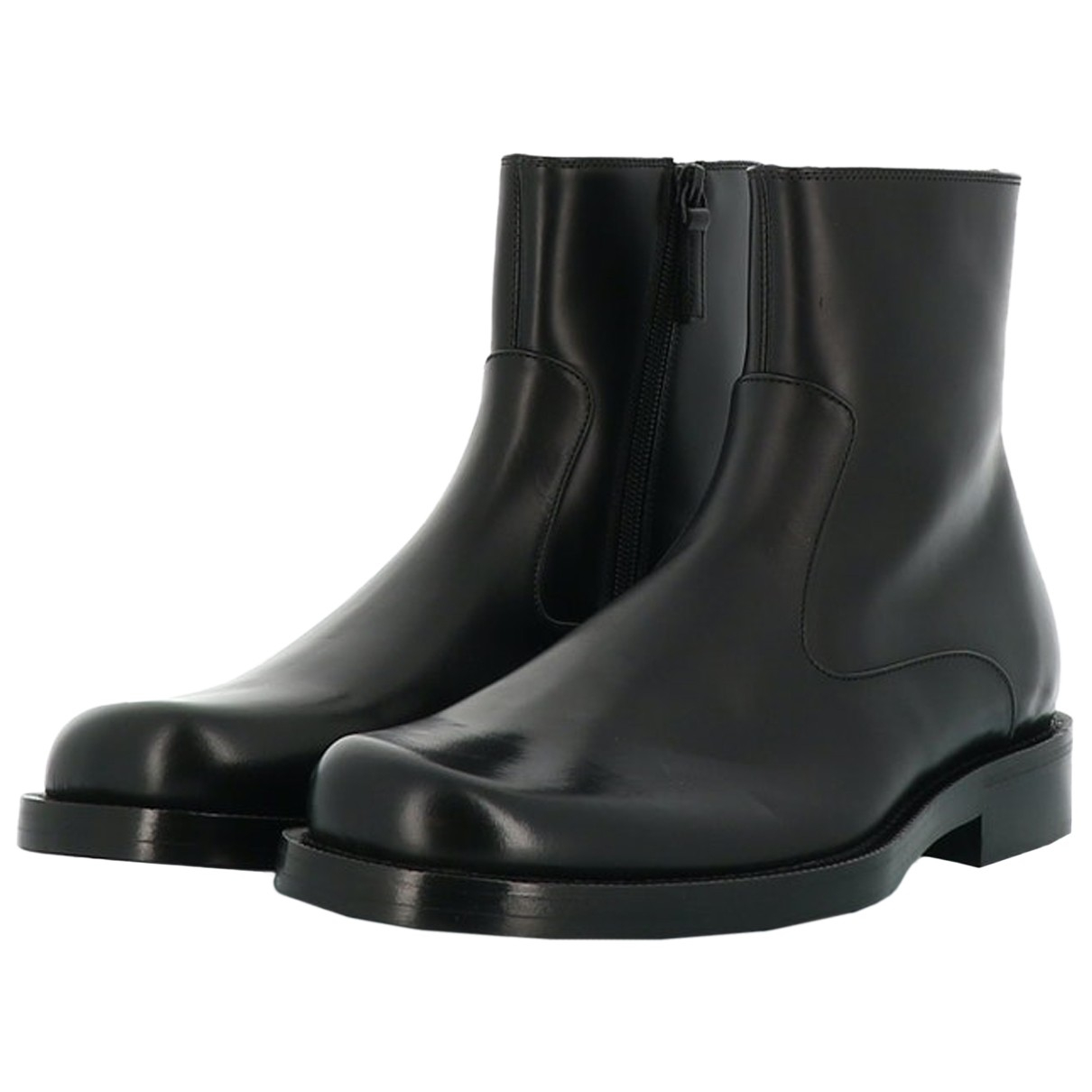 Balenciaga N Black Leather Boots for Women 39 EU