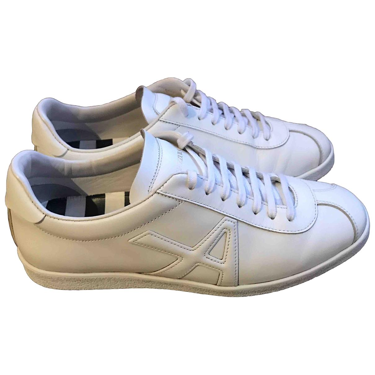 Aquazzura \N White Leather Trainers for Women 36 IT