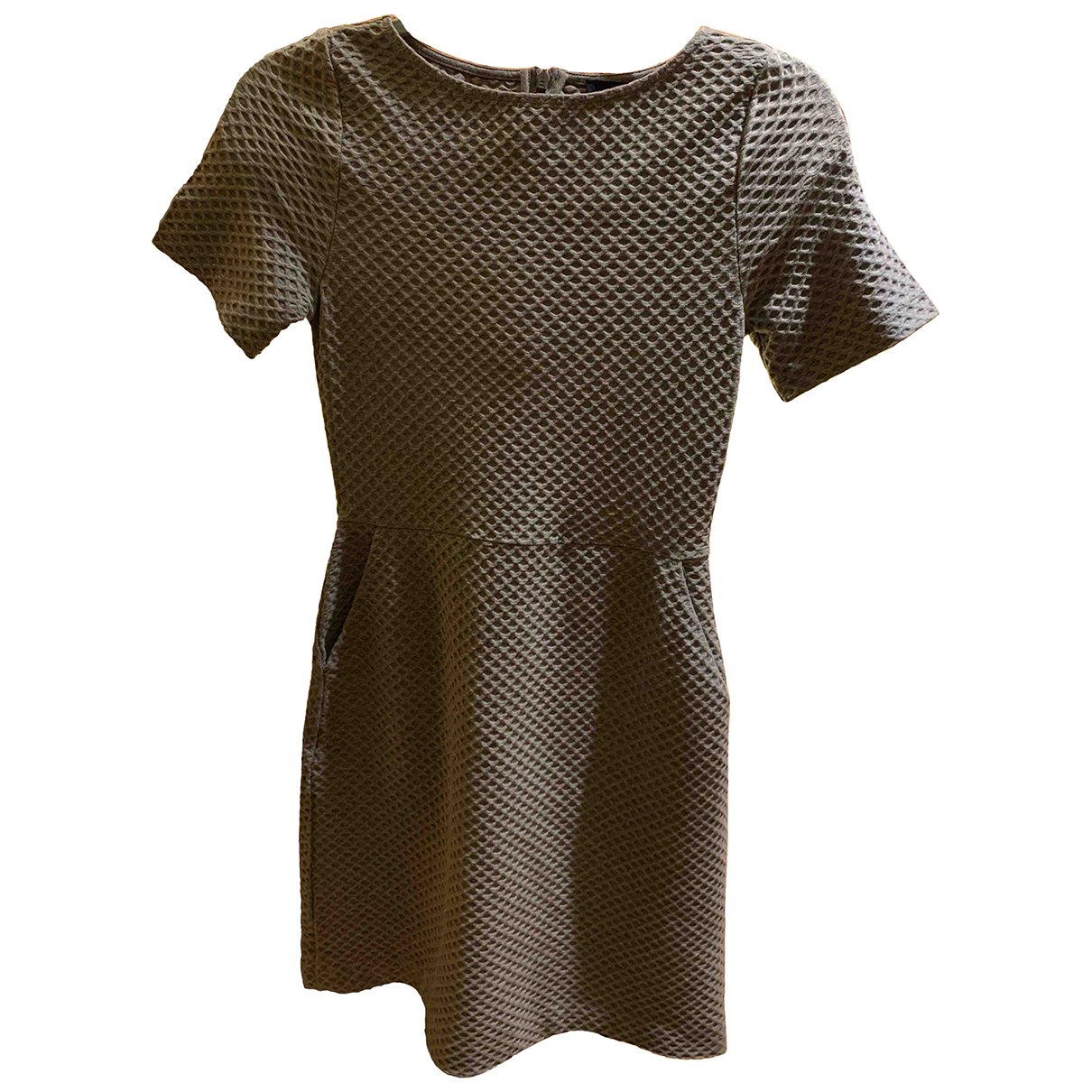 French Connection N Grey Cotton - elasthane dress for Women 6 UK