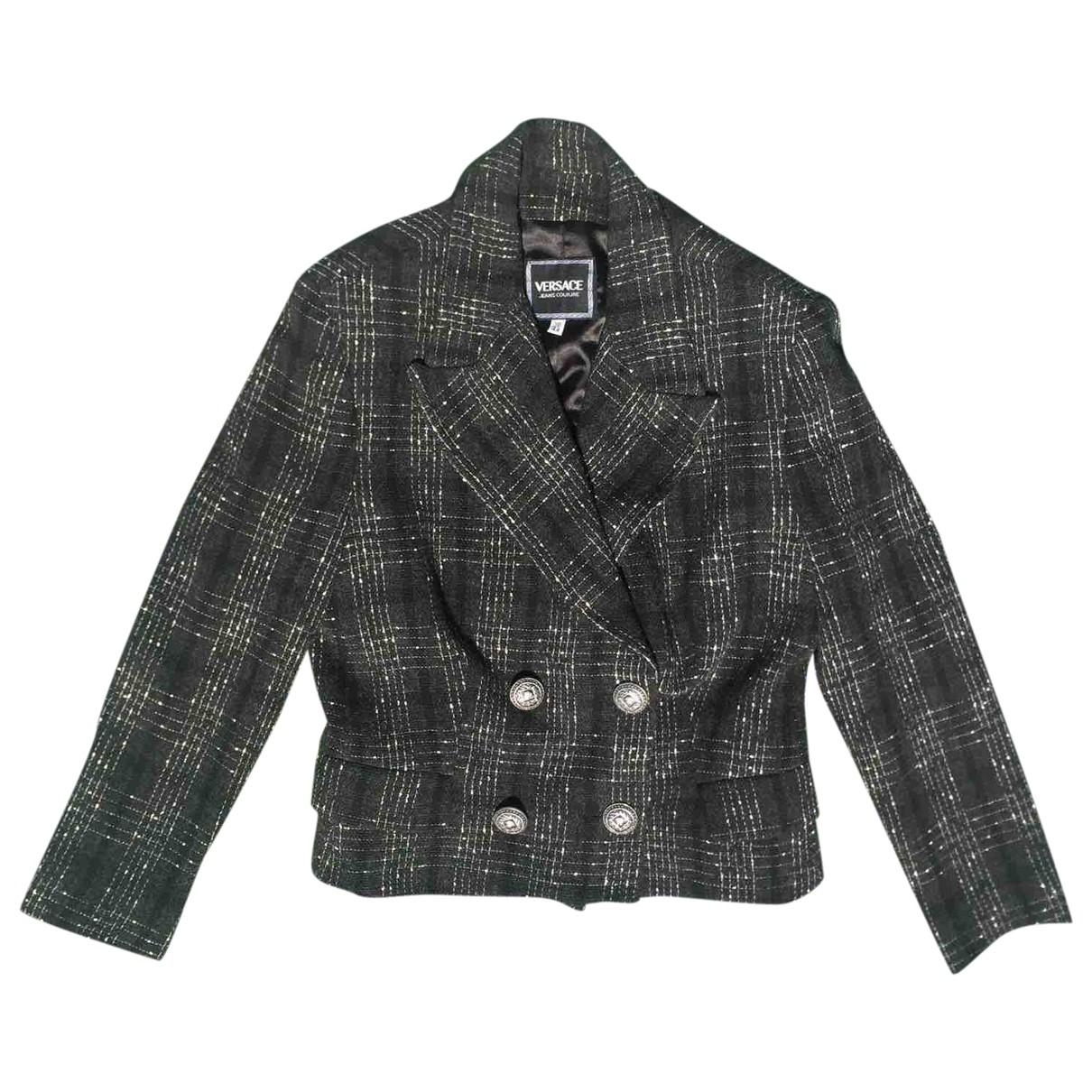 Versace Jeans \N Jacke in  Grau Wolle
