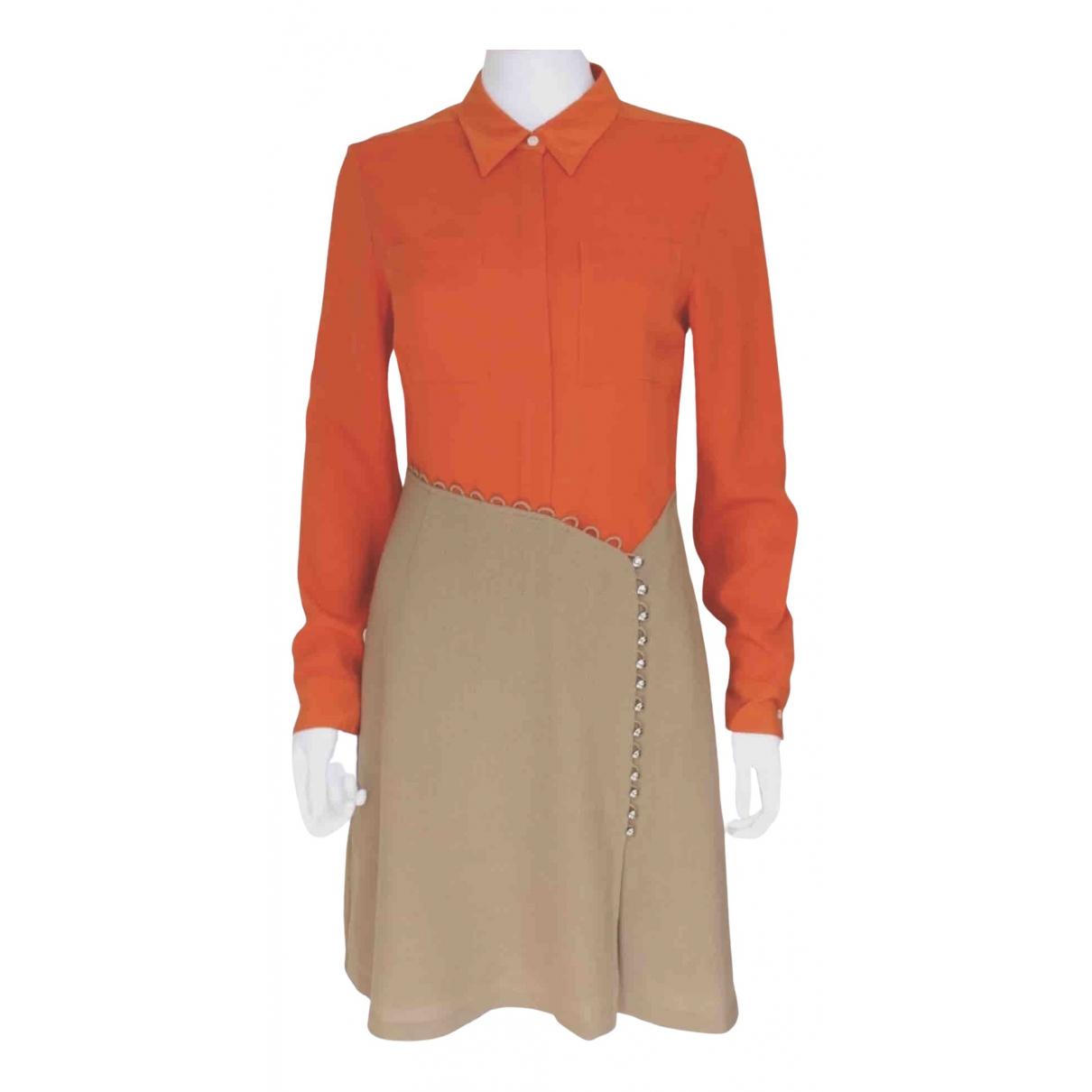 3.1 Phillip Lim - Robe   pour femme en lin - orange