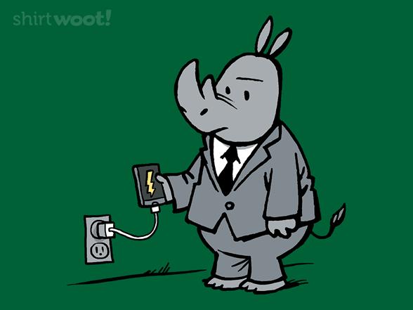 Charging Rhino T Shirt