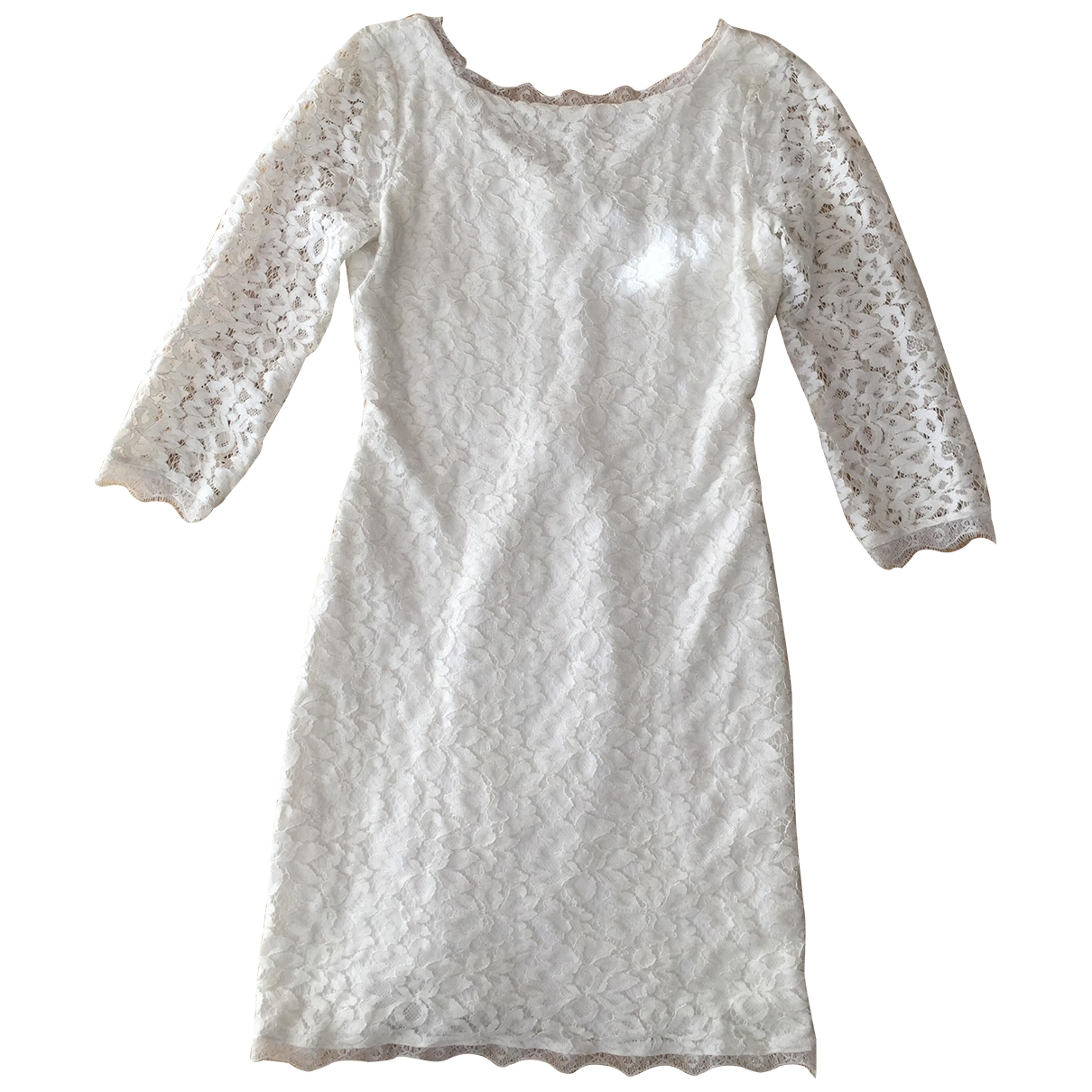 Diane Von Furstenberg - Robe   pour femme en dentelle - blanc