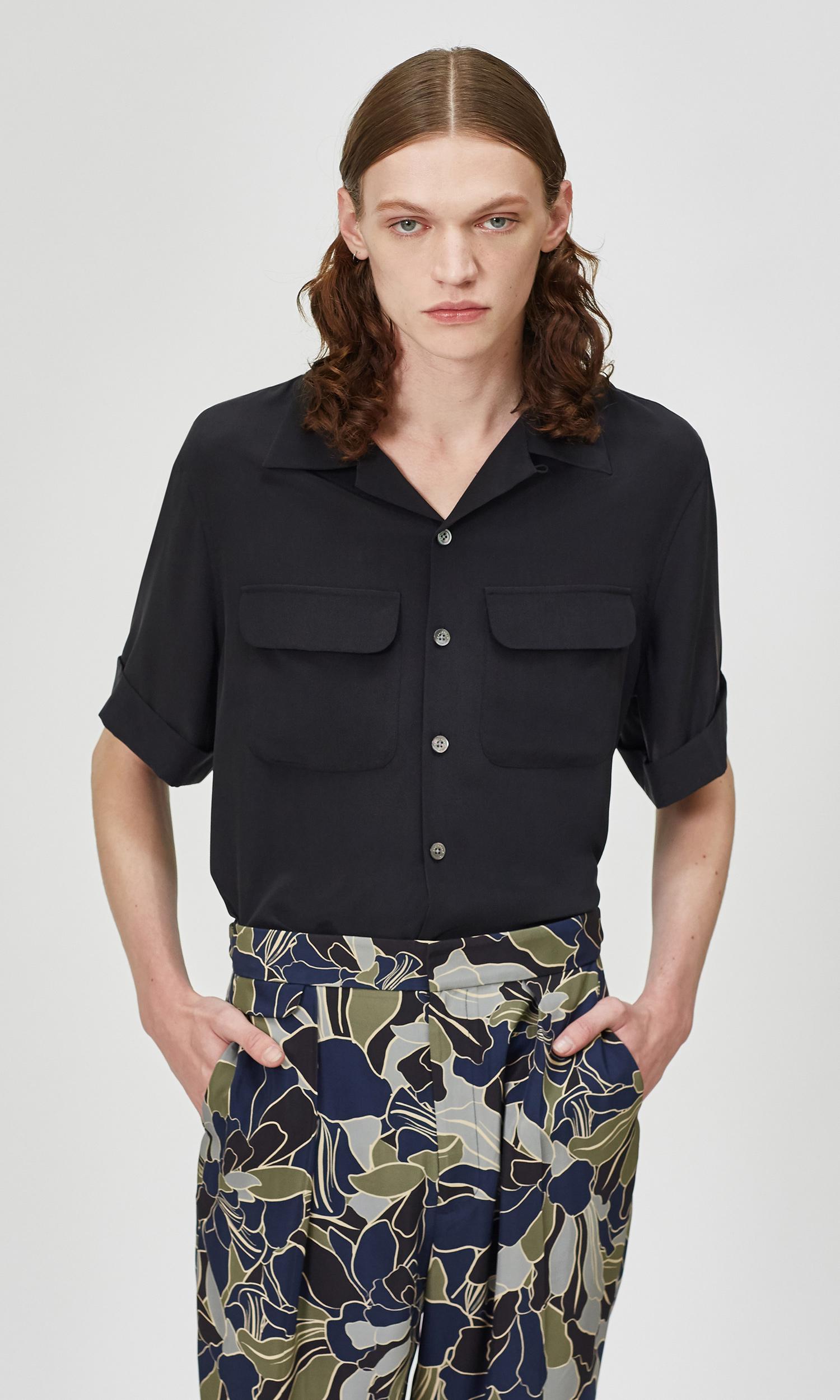 The Short Sleeve Original Silk Cuban Shirt by Equipment