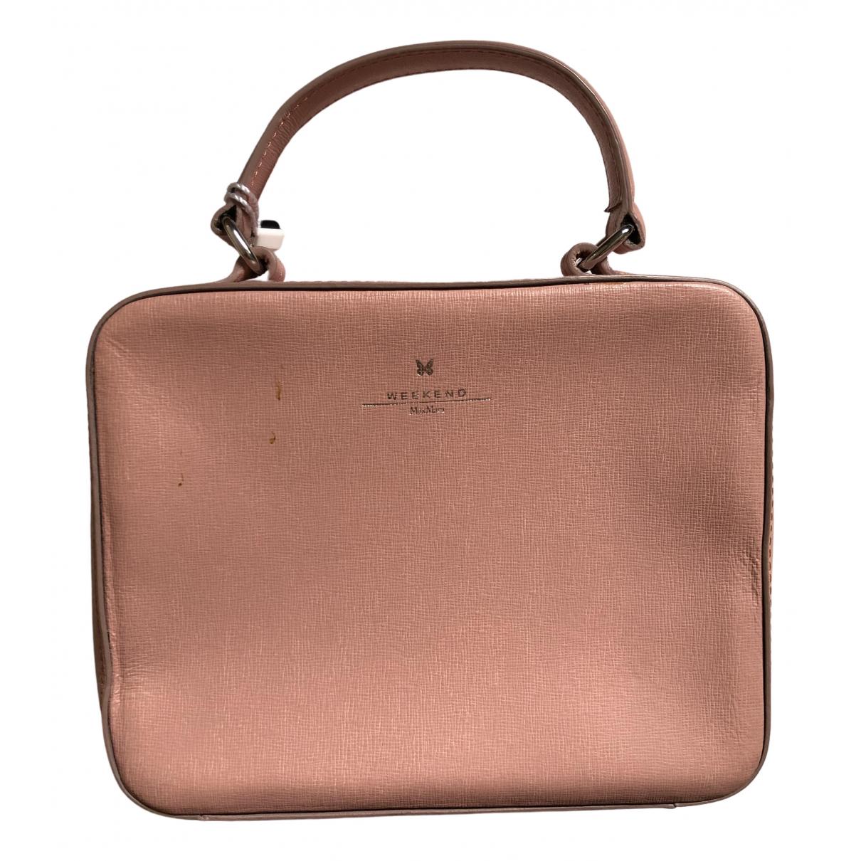 Max Mara Weekend \N Pink Leather handbag for Women \N