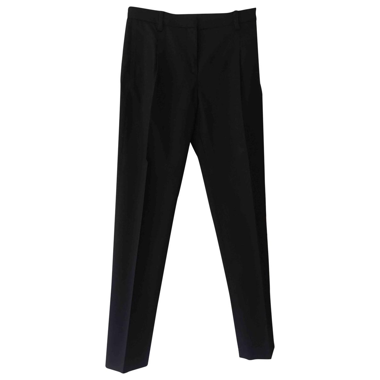 Valentino Garavani \N Black Wool Trousers for Women 36 IT