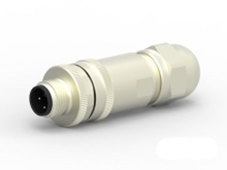 TE Connectivity Circular Connector, 5 contacts Cable Mount M12 Plug, Screw IP67, IP68