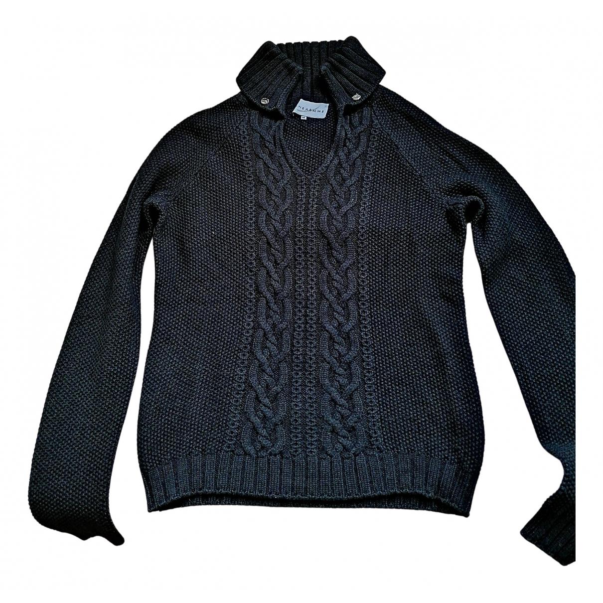 - Pull   pour femme en laine - bleu