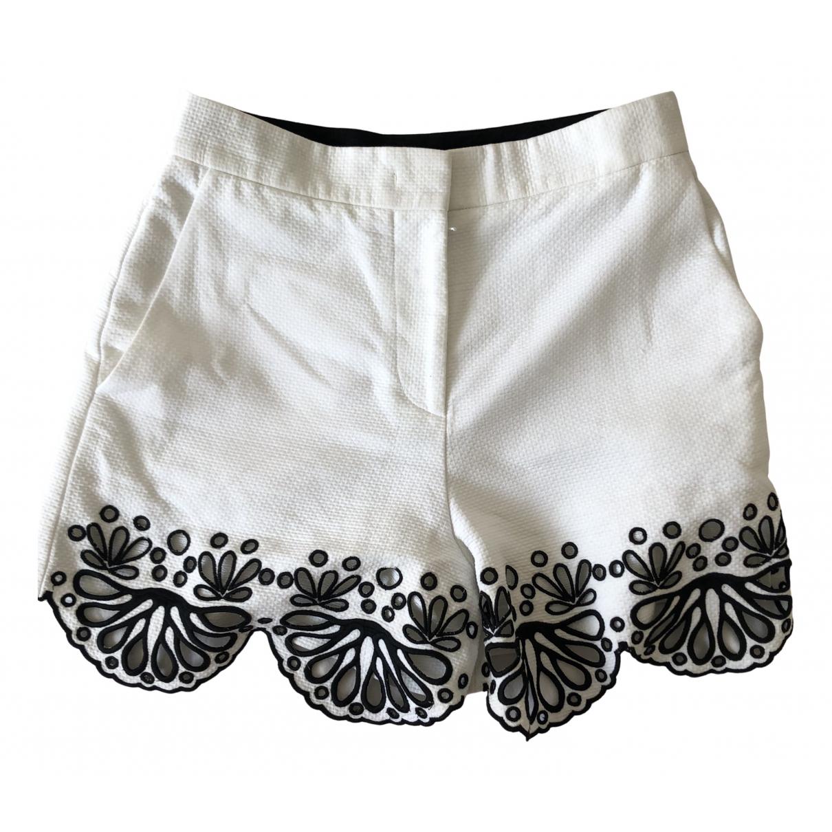 Emilio Pucci \N Shorts in  Weiss Baumwolle