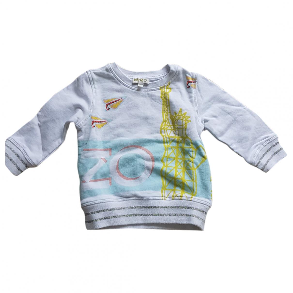 Kenzo - Pull   pour enfant en coton - blanc