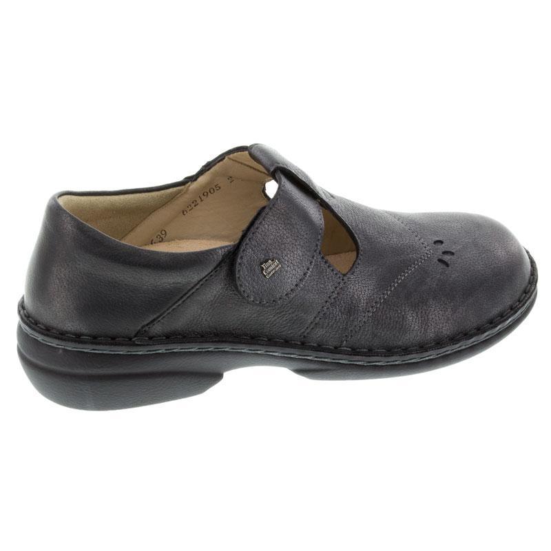 Finn Comfort Nashville Nerosilver Leather Soft Footbed 38