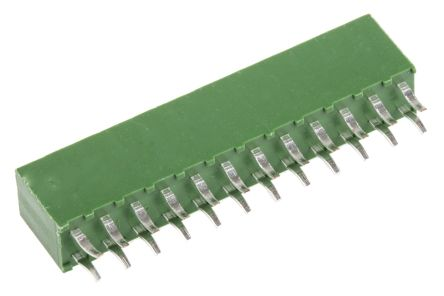 TE Connectivity , AMPMODU HV100 2.54mm Pitch 24 Way 2 Row Straight PCB Socket, Through Hole, Solder Termination (10)