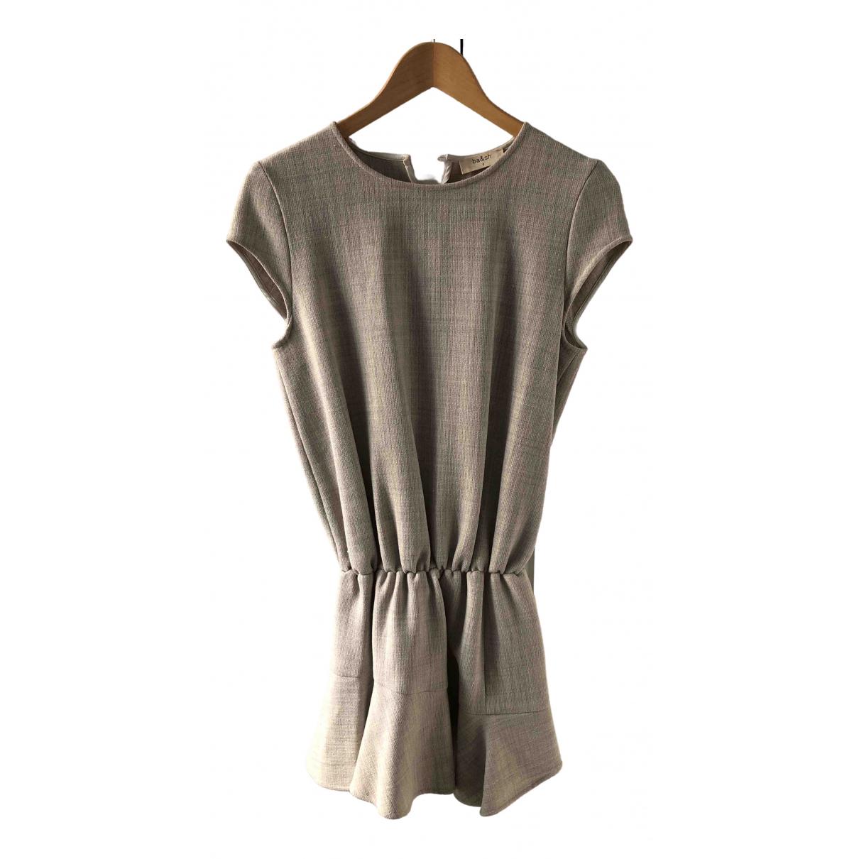 Ba&sh \N Kleid in  Grau Wolle