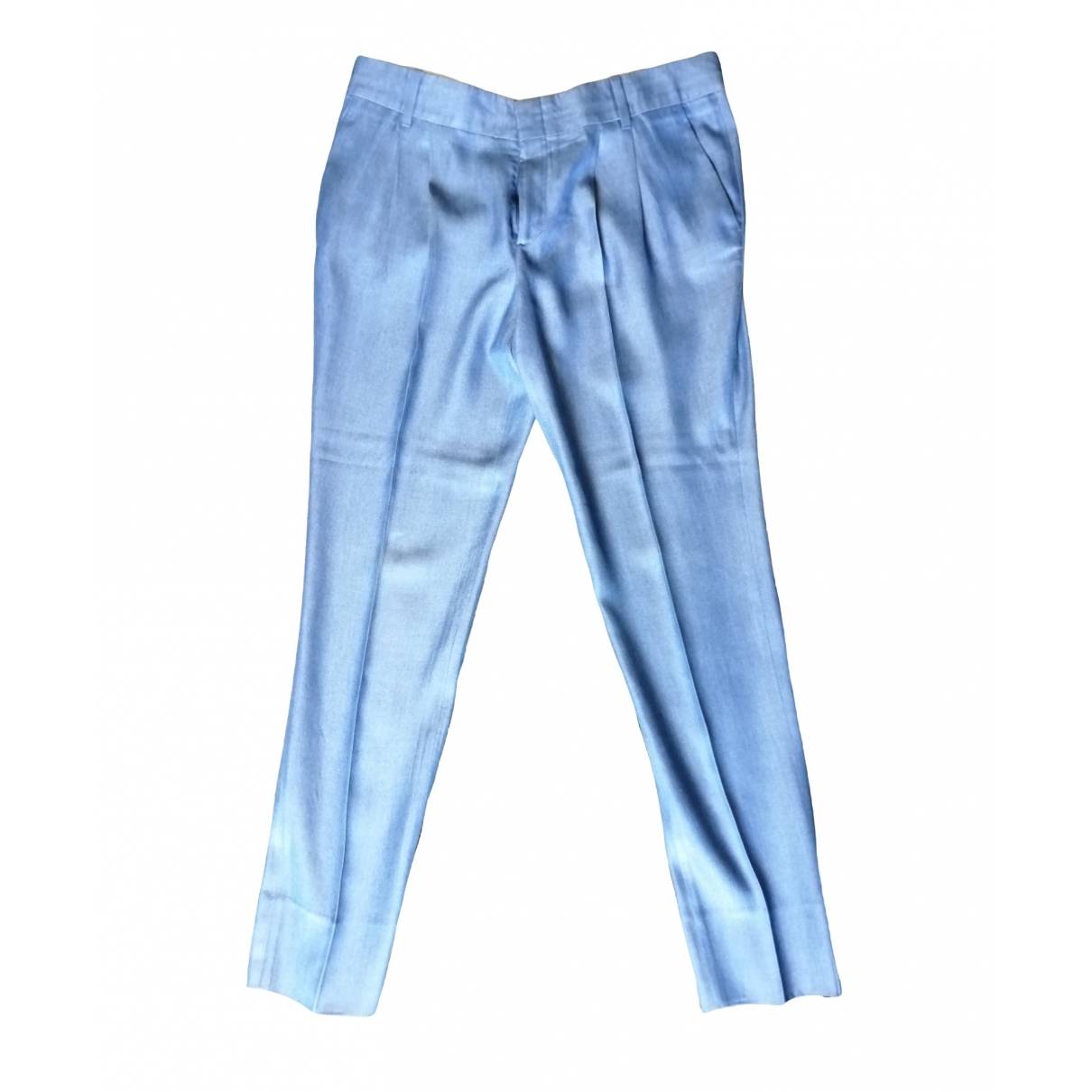 Gucci \N Blue Trousers for Women 42 IT