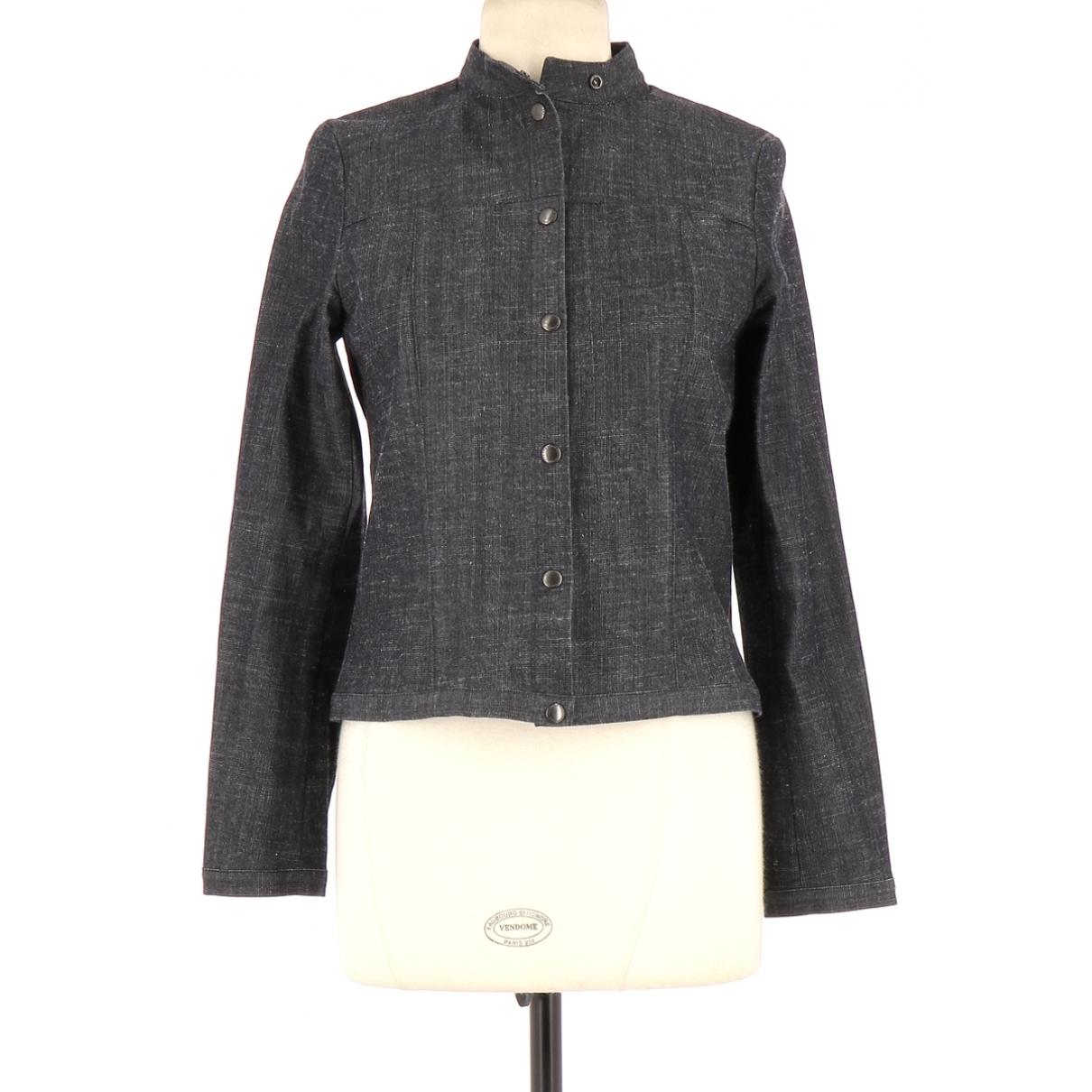 Comptoir Des Cotonniers \N Navy Cotton jacket for Women 38 FR