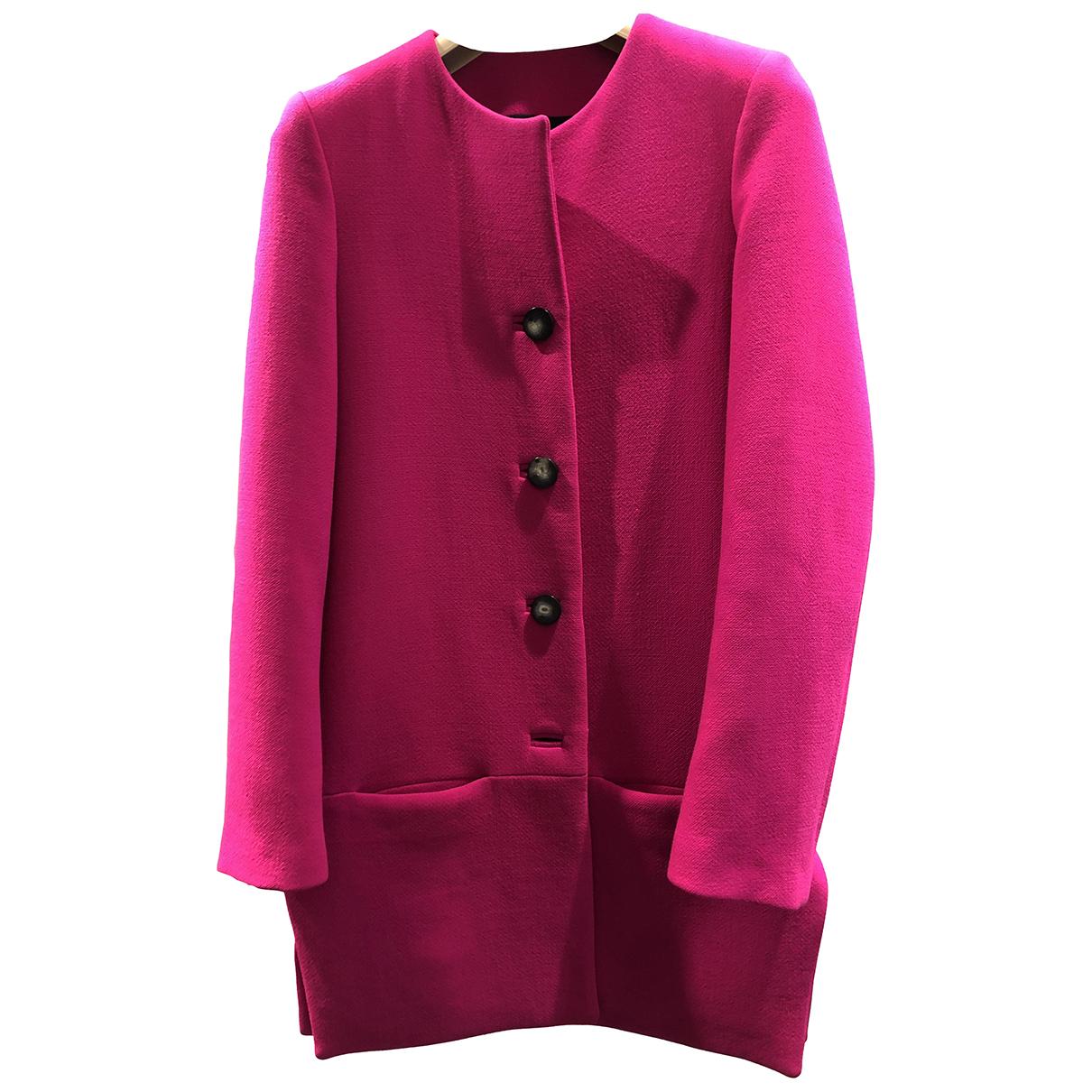 Balenciaga - Manteau   pour femme en laine - rose