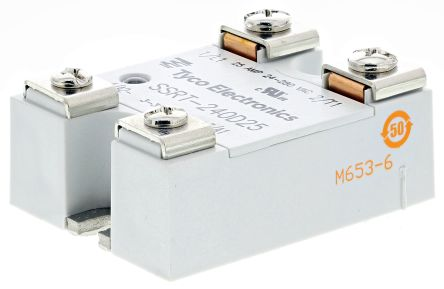 TE Connectivity 25 A SPNO Solid State Relay, Zero Crossing, Panel Mount, Alternistor Triac, 280 V rms Maximum Load