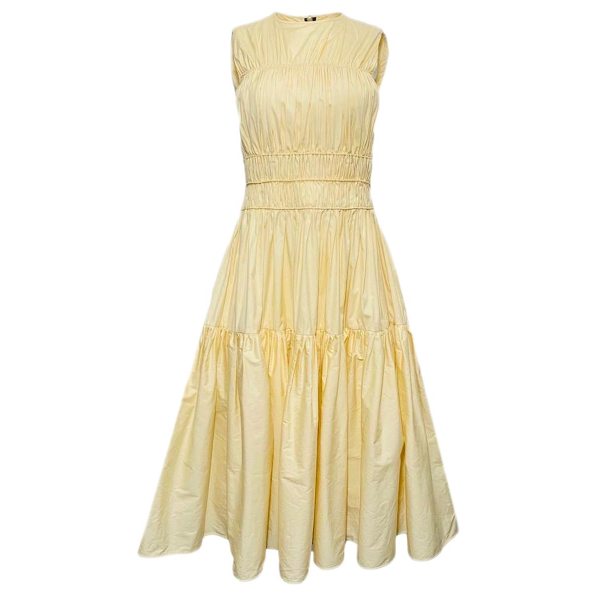 Roksanda \N Yellow Cotton dress for Women 8 UK