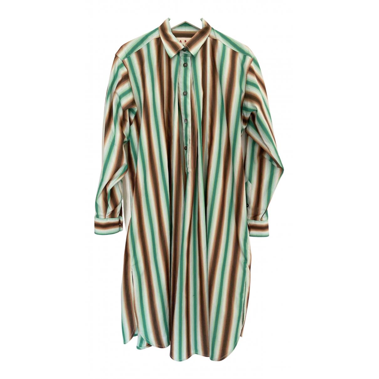 Marni \N Kleid in  Gruen Baumwolle