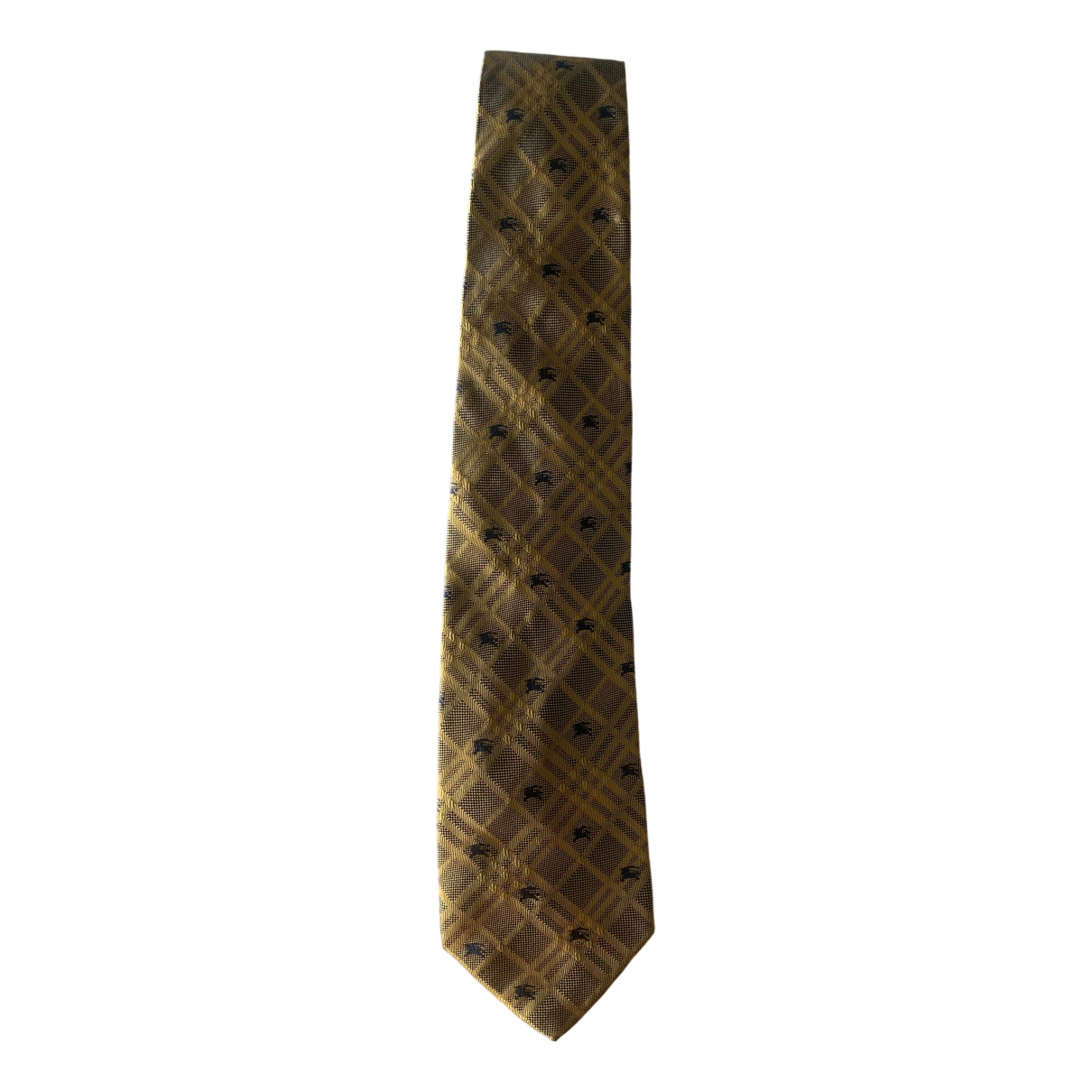 Burberry \N Yellow Cotton Ties for Men \N