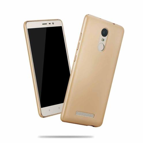 Back Case For Xiaomi Redmi Note 3 Ultra-thin Silky Smooth Protective Phone Cover Back Shell - Golden