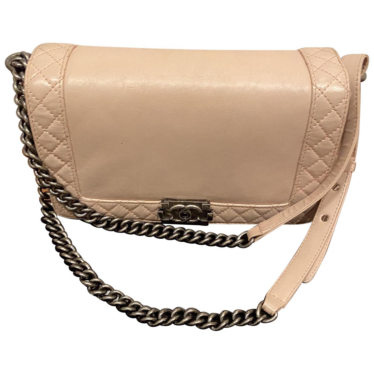 Chanel Boy Handtasche in  Rosa Leder