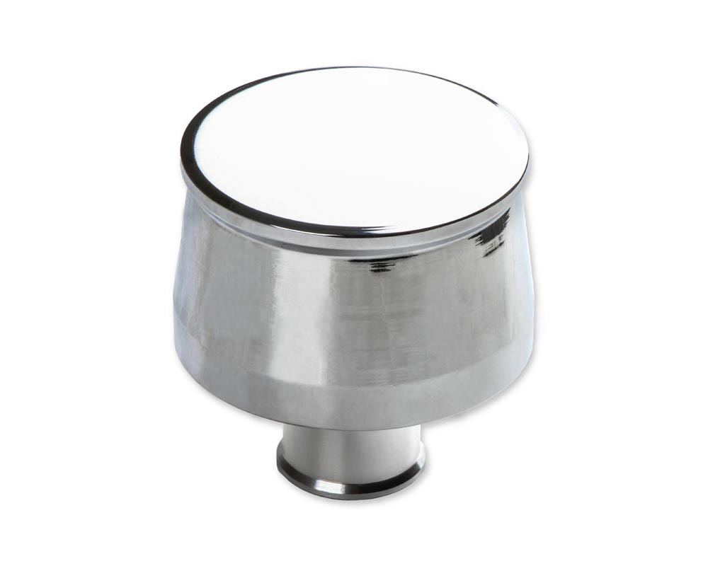 Mr. Gasket Breather Cap - Chrome Plated Aluminum with Smooth Top