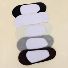5pairs Plain Invisible Socks
