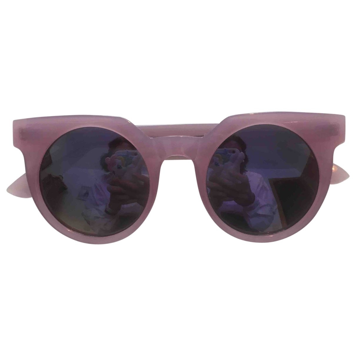 Quay \N Sonnenbrillen in  Rosa Kunststoff