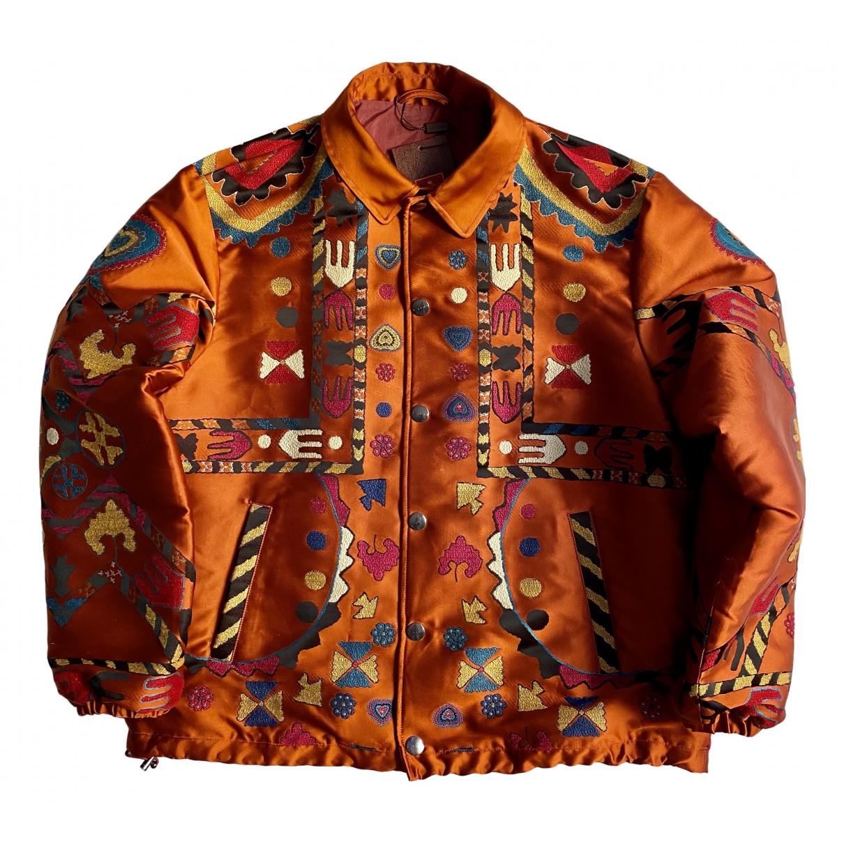 Etro - Vestes.Blousons   pour homme en soie - orange