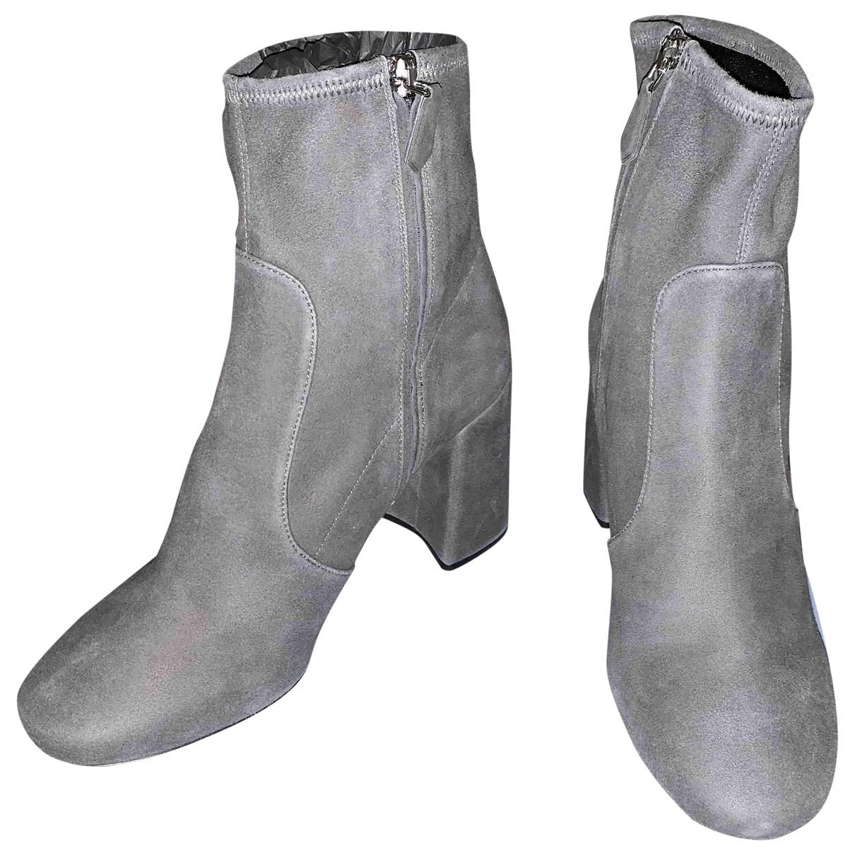 Prada - Bottes   pour femme en suede - gris