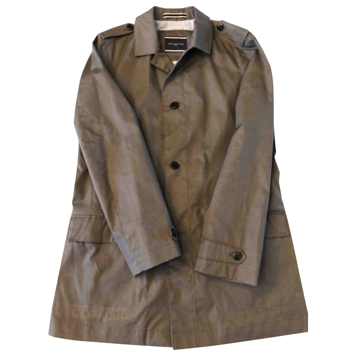Tommy Hilfiger \N Green Cotton coat  for Men 50 IT