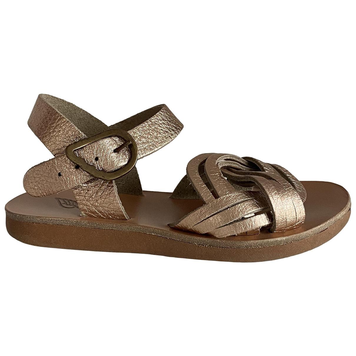 Ancient Greek Sandals - Sandales   pour enfant en cuir - dore