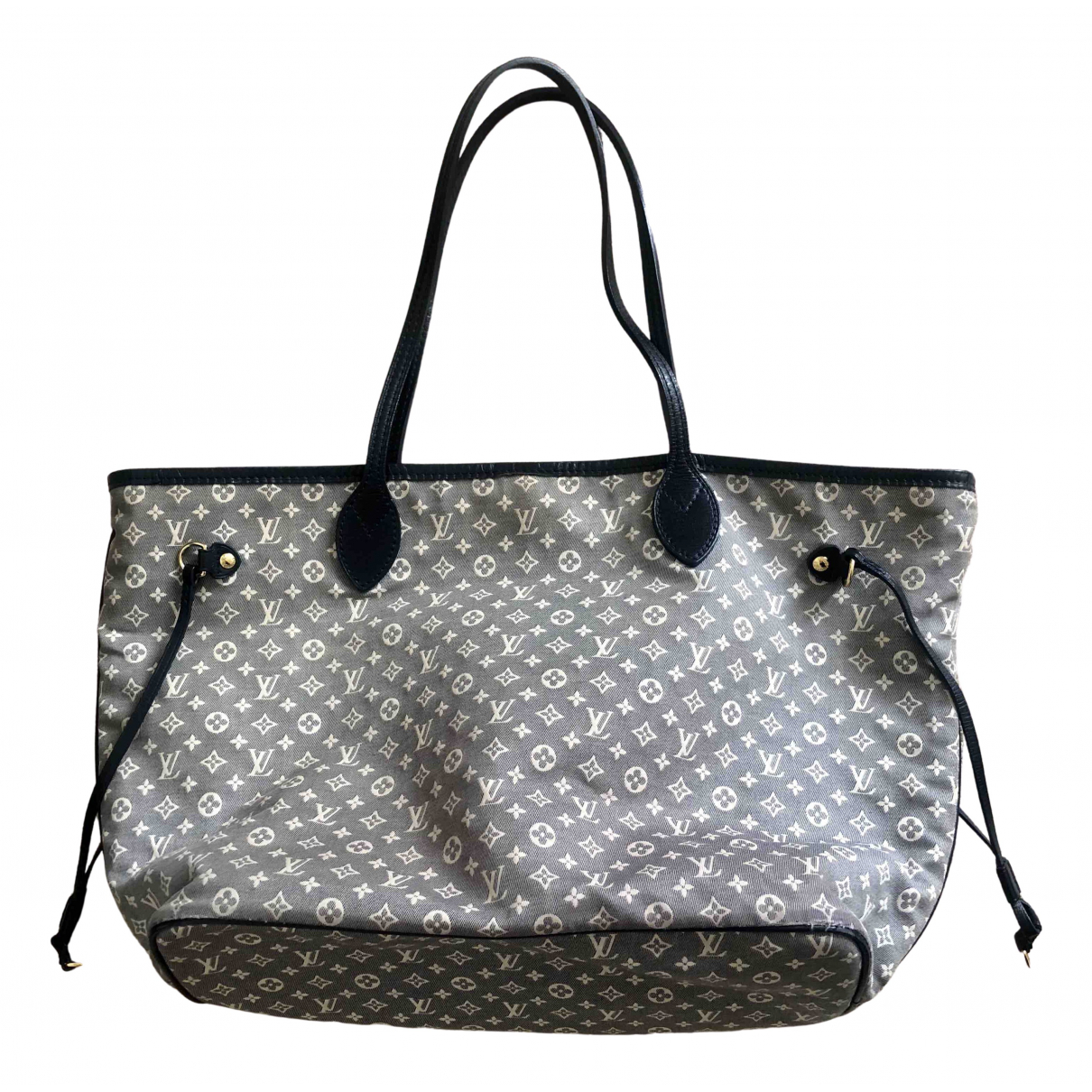 Louis Vuitton Neverfull Blue Cloth handbag for Women N