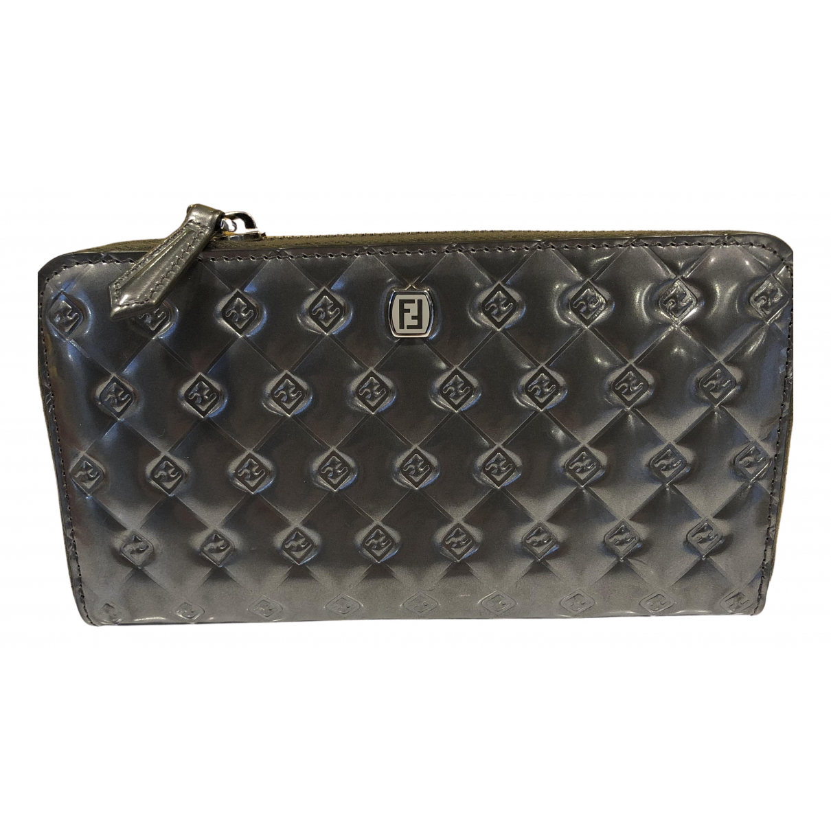 Fendi N Grey Patent leather wallet for Women N