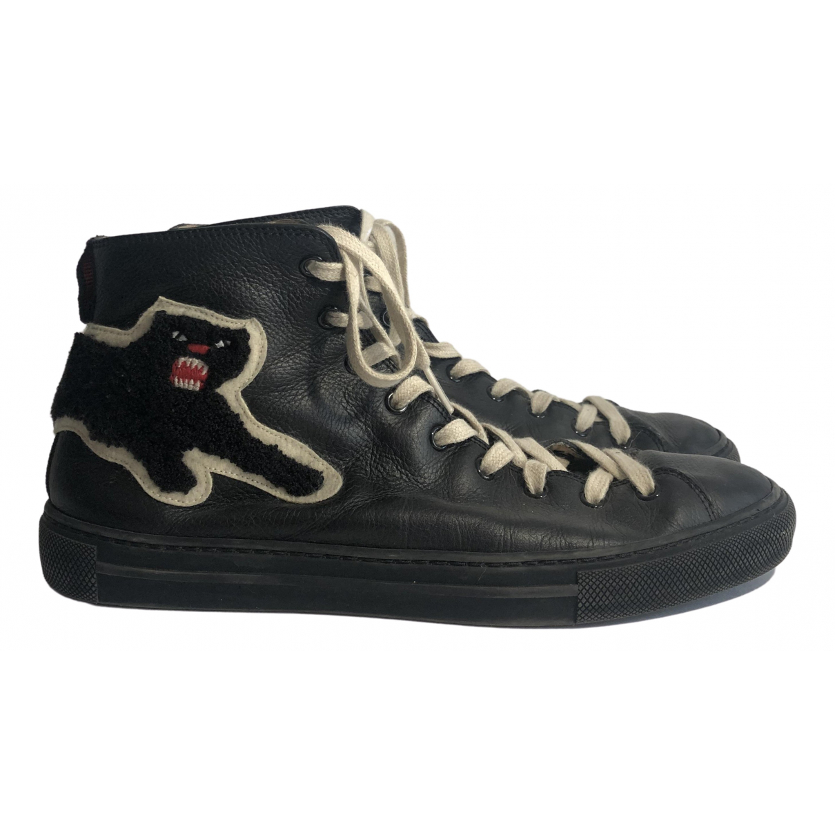 Gucci \N Black Leather Trainers for Men 41 EU