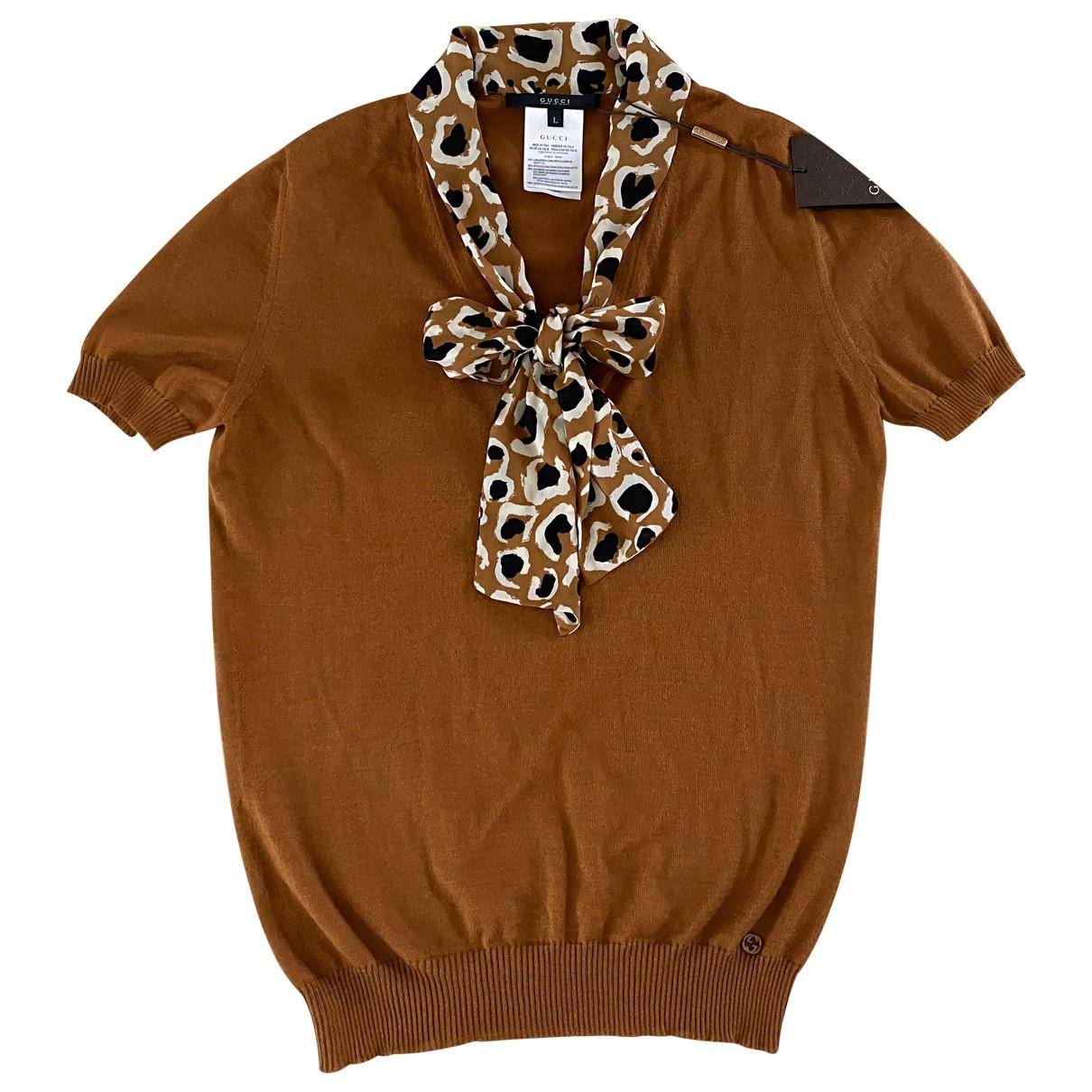 Gucci - Pull   pour femme en cachemire - marron