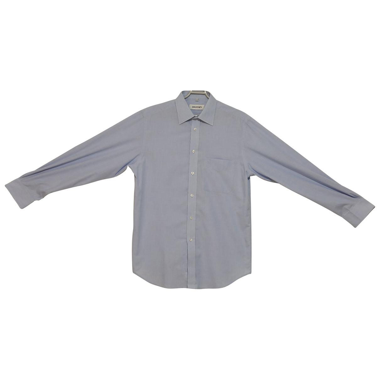 Balmain - Chemises   pour homme en coton - bleu
