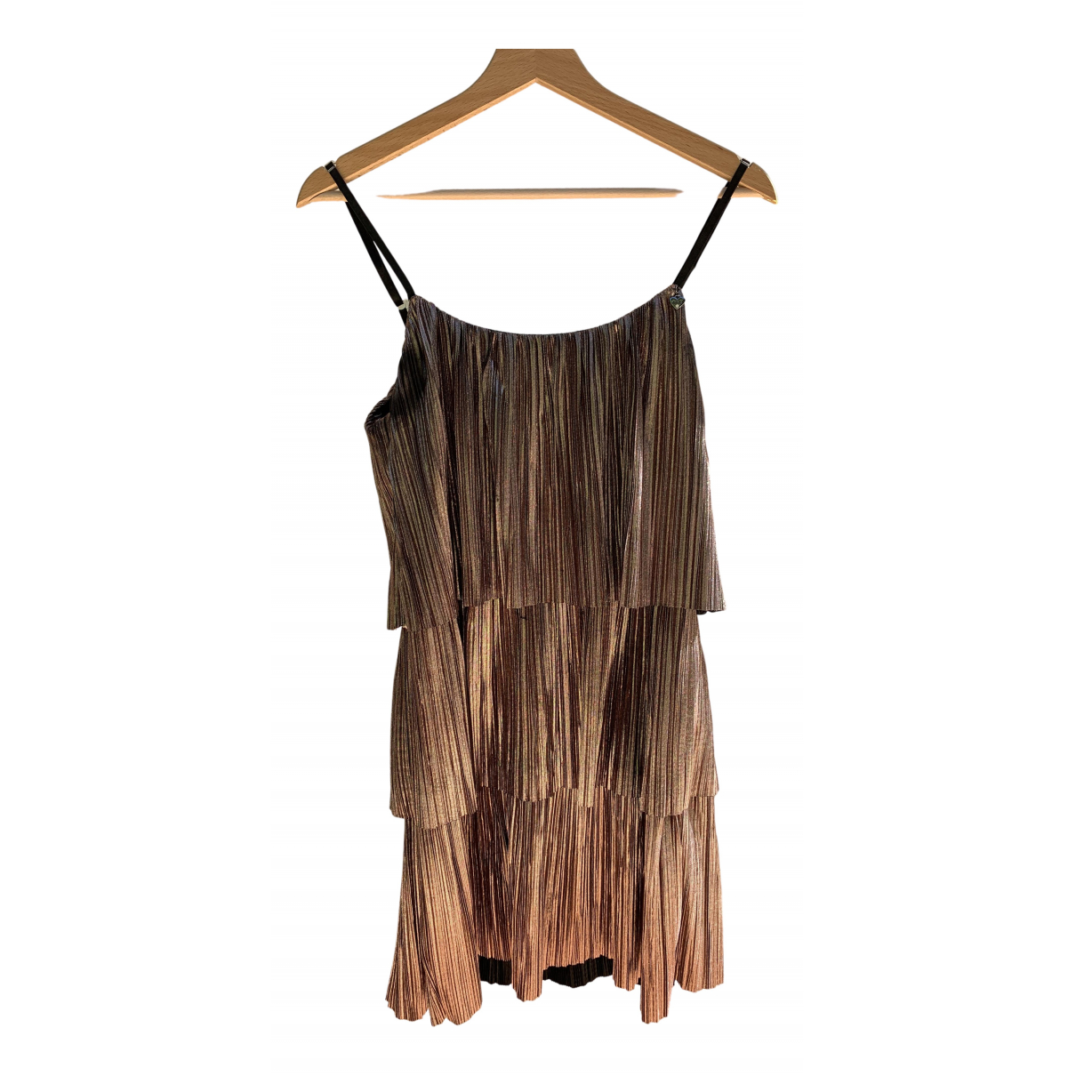 Non Signe / Unsigned \N Kleid in  Metallic Polyester