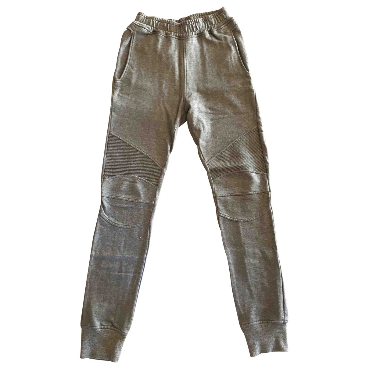 Balmain \N Grey Cotton Trousers for Men M International