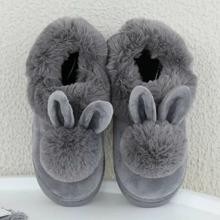Chancletas mullidas con diseño de conejo
