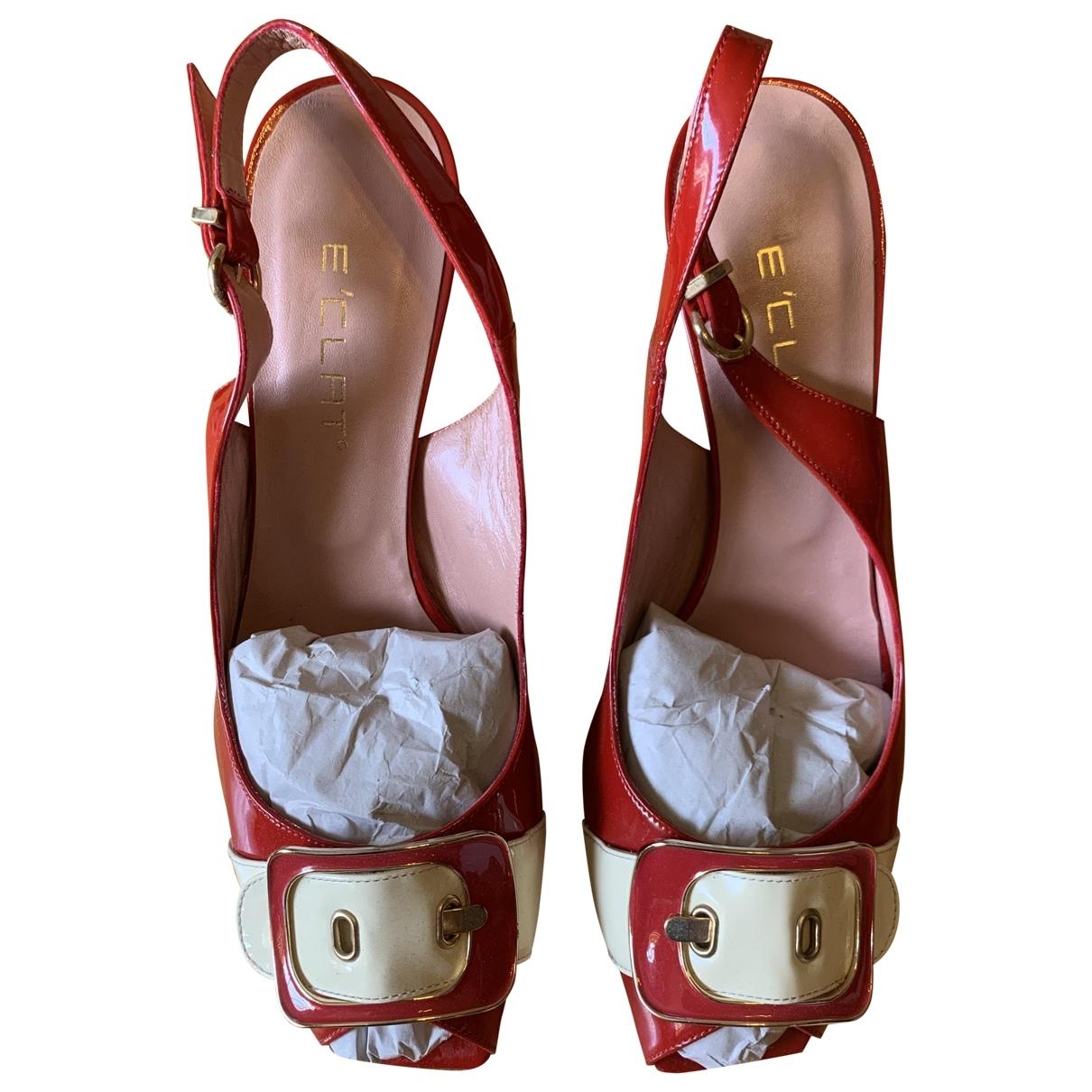 Eclat - Escarpins   pour femme en cuir - rouge